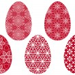 Red easter eggs, vector — Stock Vector