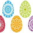 Colorful easter eggs, vector — Stock Vector #4933793