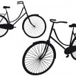 Stock vektor: Vintage bicycle, vector