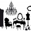 Royalty-Free Stock Imagen vectorial: Vintage dressing room, vector