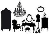 Garderoba vintage, wektor — Wektor stockowy