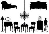 Antique furniture, vector — Stock Vector
