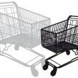 Shopping cart, vector — Vettoriali Stock