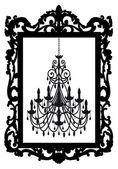 Foto frame com o candelabro, vetor — Vetorial Stock