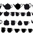 Coffe and tea - Imagens vectoriais em stock