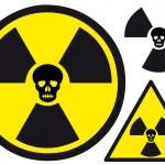 Постер, плакат: Nuclear symbol with skull