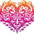 Decorative ornamental heart, vector — Stock Vector