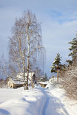 Russische land von winter — Stockfoto