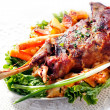 Stock Photo: Roasted lamb shoulder