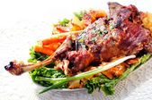 Roasted lamb shoulder — Stock Photo