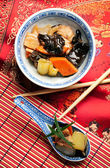 Chinese food - Szechuan chicken — Stock Photo