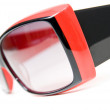 Red female sunglasses isolated on white — Stock Photo