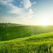 Landskap på sunset — Stockfoto