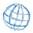 Abstract globe from water splashes isolated on white — Stock Photo