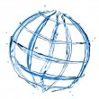 Стоковое фото: Abstract globe from water splashes isolated on white