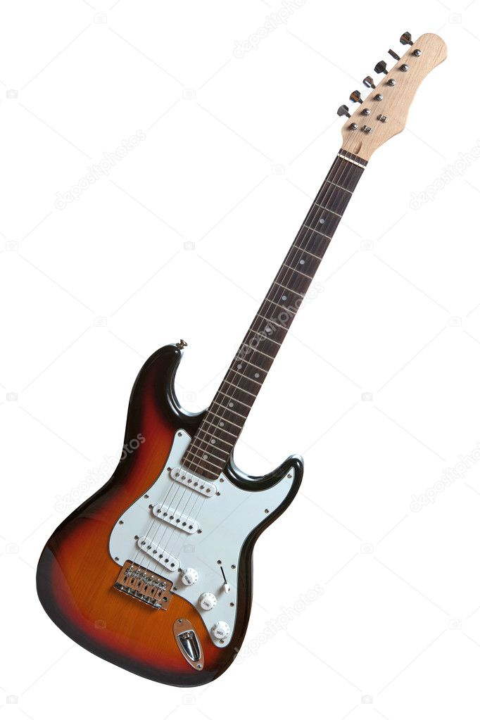 Electric guitar isolated on white  Stock Photo #4098289