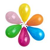 Ballons de couleur isolés sur blanc — Photo