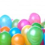 globos color aislados en blanco — Foto de Stock