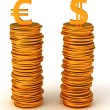 Currency equality - US dollar and Euro — Stock Photo #4038768