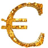 Euro stability. Symbol assembled with coins — Stock Photo