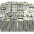 Treasury. Large bundle of US dollars - Stock Photo