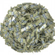 Royalty-Free Stock Photo: Ball shape assembled of US dollar bundles