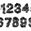 Stock Photo: Broken 0-9 font numerals