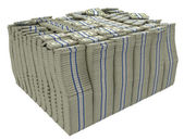 Much money. Large stack of US dollars — Stock Photo