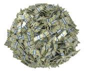 Ball shape assembled of US dollar bundles — Stock Photo