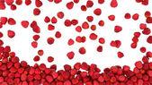 Vyplňovat rámeček s červenými jablky — Stock fotografie