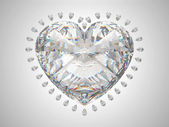 Large heart cut diamond — Stock Photo