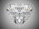 Luxury love - large heart cut diamond — Stock Photo