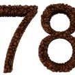 Stock Photo: Coffee font 6 7 8 9 numerals