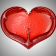 Love and Romance - Red fluid heart shape — Stock Photo