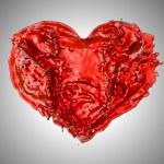 Love - Red fluid heart shape — Stock Photo