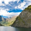 Stock Photo: Mountains and Norwegifiord