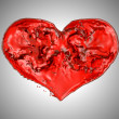 Passion - Red fluid heart shape — Stock Photo