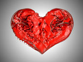 Love and Passion - Red fluid heart shape — Stock Photo