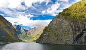 Mountains and Norwegian fiord — Stock Photo