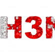 Swine Flu H3N2 epidemic - word assemled with pills — Stock Photo #4354389