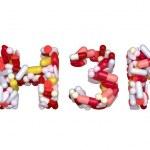 Swine Flu H3N2 virus - word assemled with pills — Stock Photo #4354409