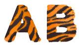 Kaplan düştü bir ve b harfleri izole — Stok fotoğraf