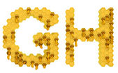 Honey font G and H letters isolated — Stock Photo