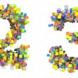 Abstract cubic font 2 and 3 figures — 图库照片