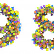 Abstract cubic font 8 and 9 figures — Stock Photo