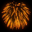 Orange festive fireworks at night — Stock Photo #4421291