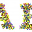 Stock Photo: Abstract cubes font and B letters isolated