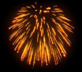 Pomarańczowy świąteczne fajerwerki nocą — Zdjęcie stockowe