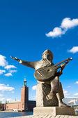 ストックホルム市庁舎と片脚トウブズ テラス — ストック写真