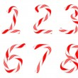 Candy cane font 0-9 numerals — Stock Photo